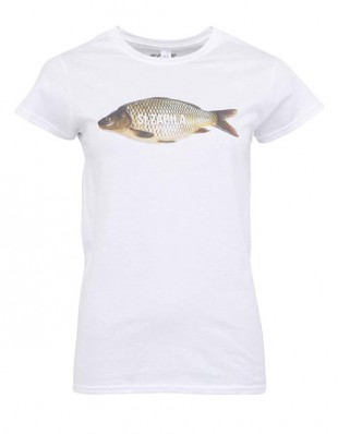 Bílé vtipné dámské tričko s potiskem Si zabila