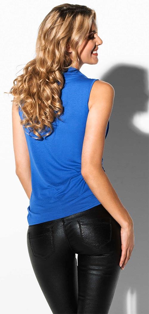 Modrý letní dámský top