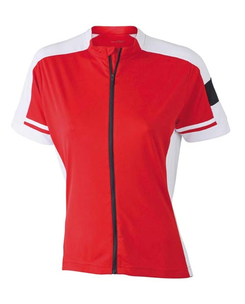 Červené dámské cyklistické tričko