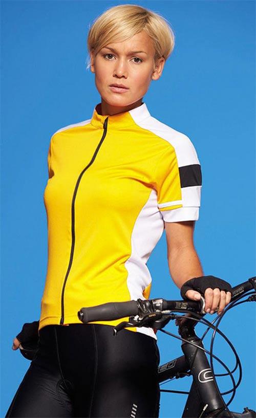 Dámské cyklistické tričko na zip
