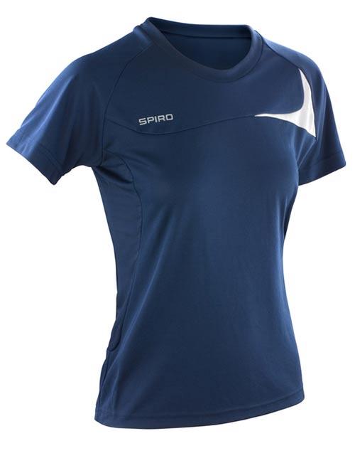 Modré dámské tričko na běhání