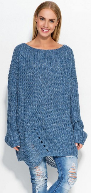 Dlouhý dámský svetr pro chladné zimní dny