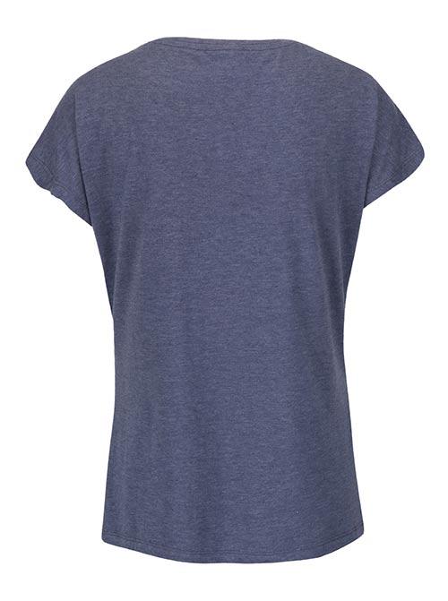 Pohodlné modré dámské tričko