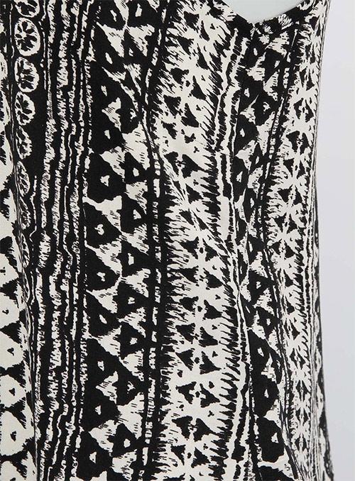 Dámské černo-bílé vzorované tílko