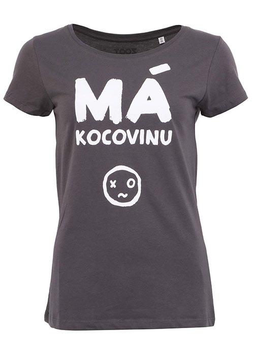 Tmavě šedé dámské tričko ZOOT Originál Má kocovinu
