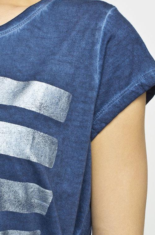 Modré oversize tričko s potiskem
