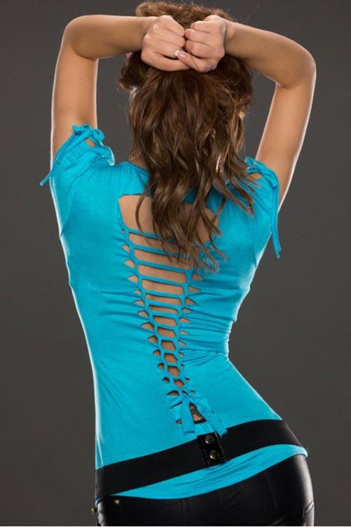 Letní tričko s odkrytými zády