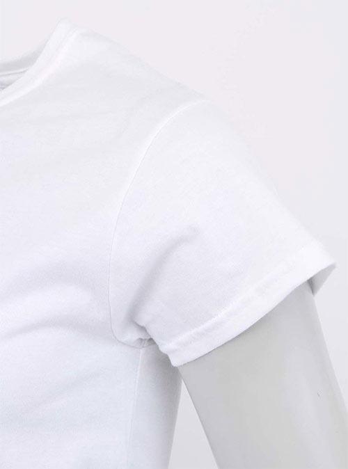 Bílé tričko s krátkým rukávem