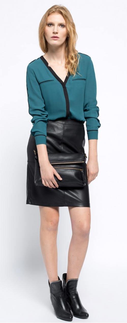 Top k černé sukni