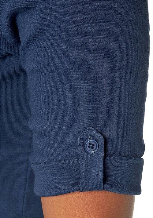 Tričko s knoflíčky pro uchycení rukávů