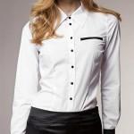 Bílá dámská luxusní košile Sara s dlouhým rukávem