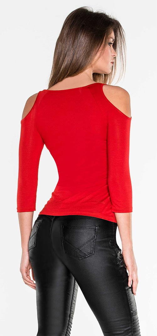Jednobarevné dámské tričko k legínám