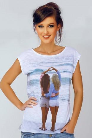 Dámské italské triko s fotkou dívek s krátkým rukávem