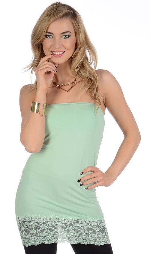 Prodloužený top - letní dámské šaty