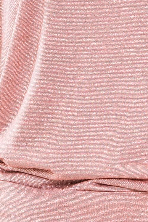 Růžová dámská halenka s lesklými kovovými vlákny