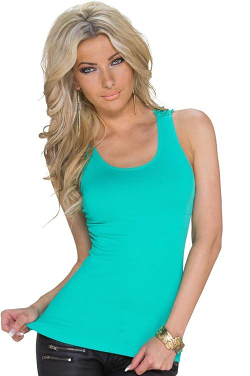 Sexy zelené dámské letní tílko
