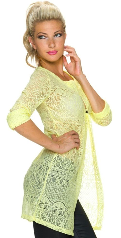 Dlouhá dámská košile na jeden knoflíček