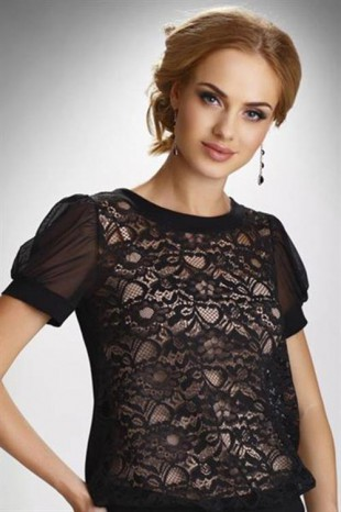 Elegantní krajková halenka s krátkým rukávem Eldar Fiorella