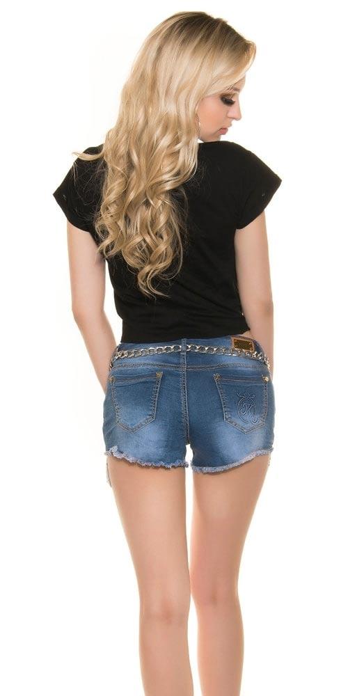 Černé dámské tričko s krátkými rukávy