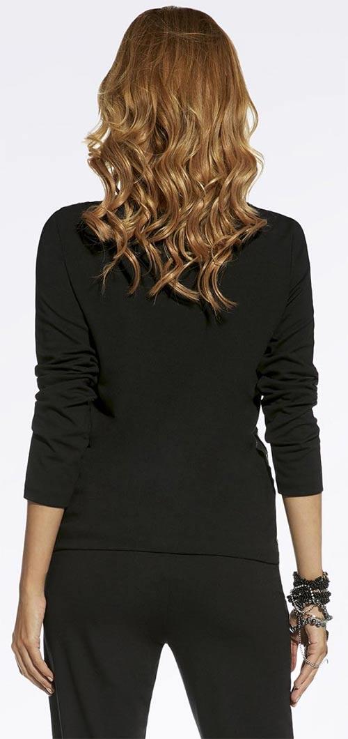 Dámské černé triko s dlouhým rukávem