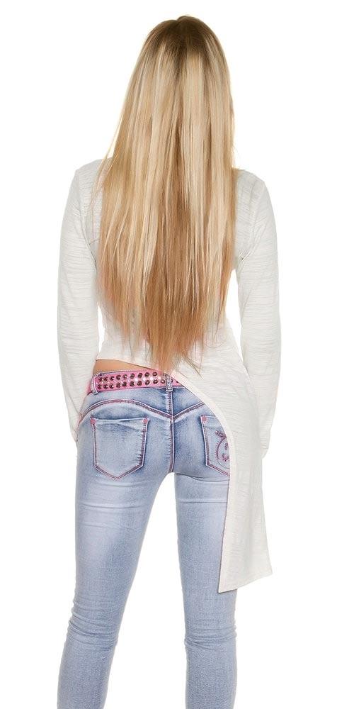 Dámský asymetrický top k džínám