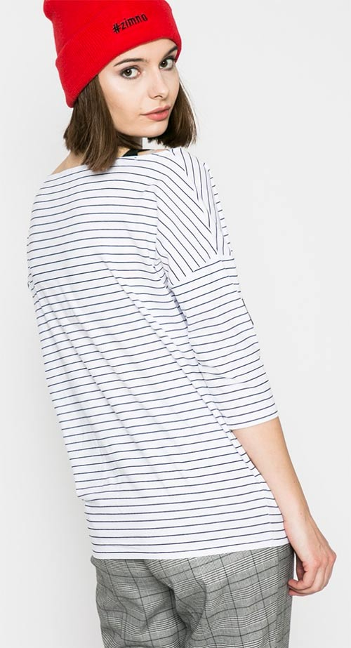Pruhované tričko s tříčtvrtečním rukávem