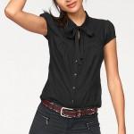 Černá halenka připomínající košili