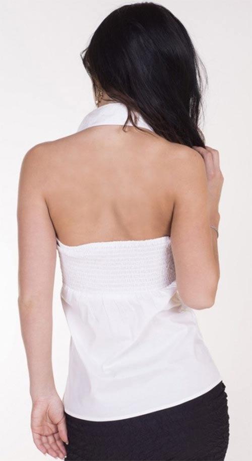Dámský top za krk s odhalenými zády