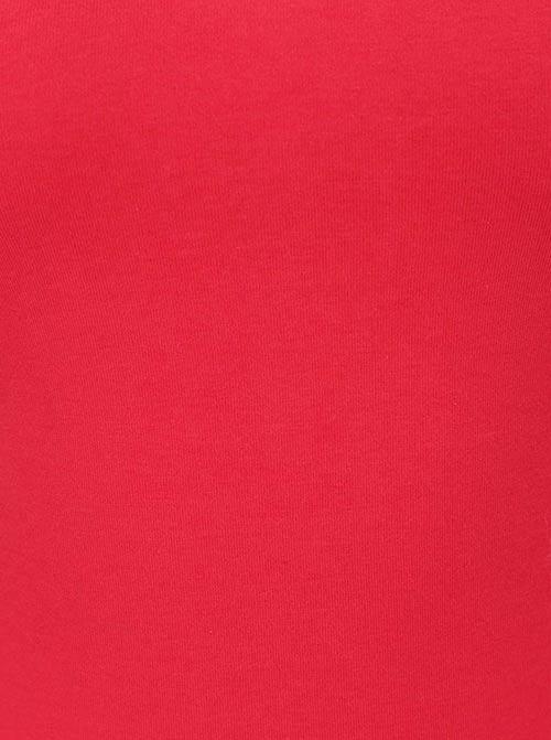 Červený bavlněný dámský top