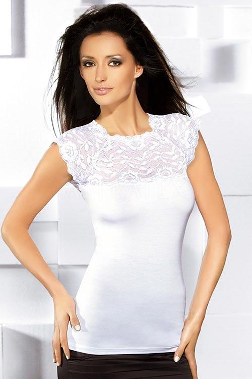 Elegantní triko se stylovým krajkovým zdobením