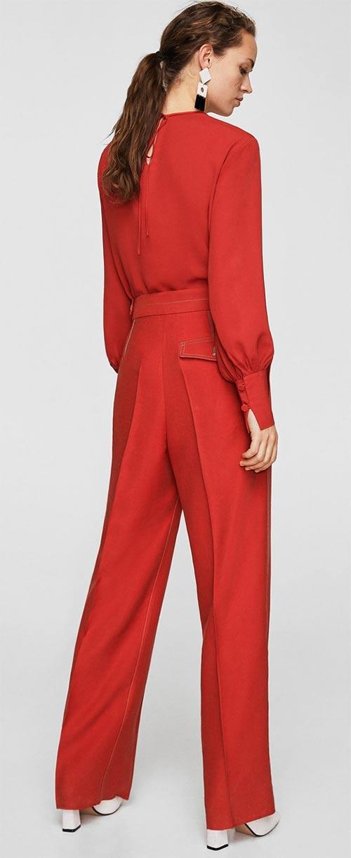 Červené dámské oblečení