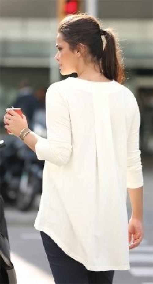 Bílé prodloužené dásmké tričko