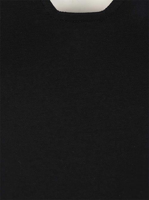 Černé bavlněné dámské tílko