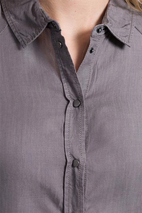 Riflová košile šedé barvy