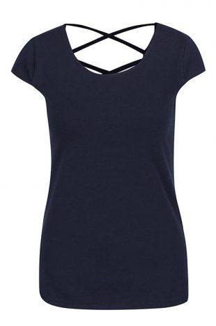 Tmavě modré dámské tričko k džínám