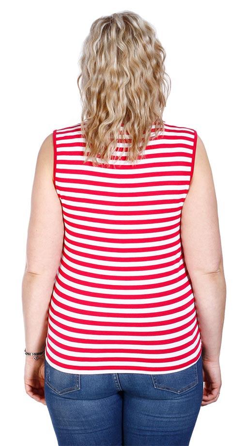 Pruhované růžovo-bílé dámské tričko