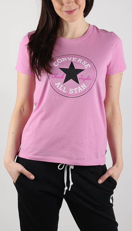 Růžové dámské tričko Converse
