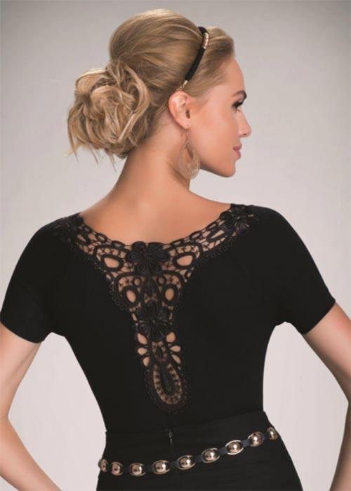 Dámská elegantní halenka Joana s krajkovým zadním dílem