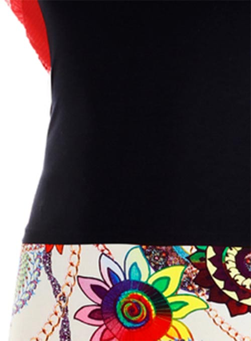 Jednobarevný top k sukni