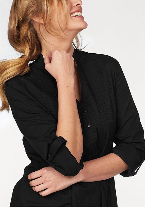 Košilová halenka s tříčtvrtečními rukávy