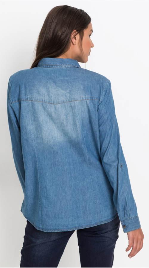 Modrá riflová košile