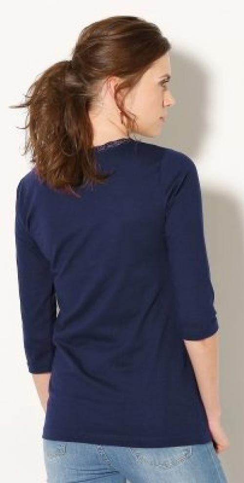Modré dámské tričko
