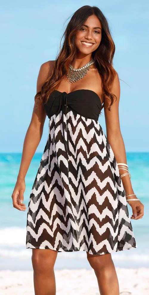 Plážové šaty s podprsenkou
