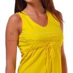 Žluté tílko se šňůrkou pod prsy