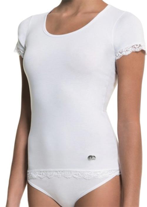Bílé dámské značkové tričko