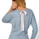 Módní dámské triko s efektním šněrováním