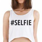 Dámské tričko s nápisem SELFIE