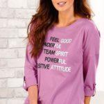 Levné dámské tričko pro plnoštíhlé