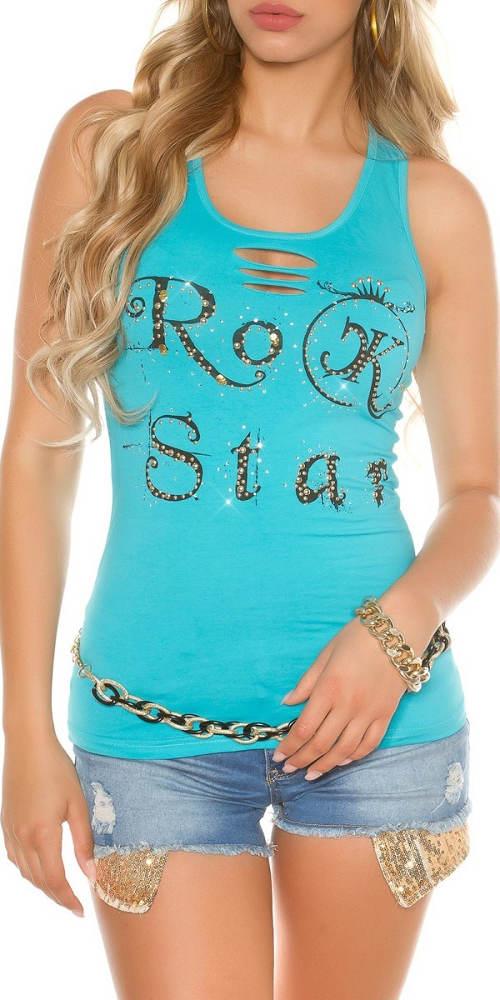 Sportovní tílko s nápisem Rock star