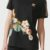 Černé květované dámské tričko Adidas